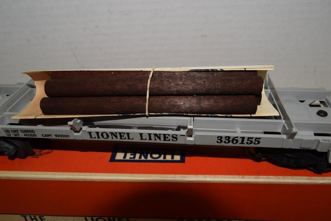1955 LIONEL OPERATING LUMBER CAR 3361X NIB - 2