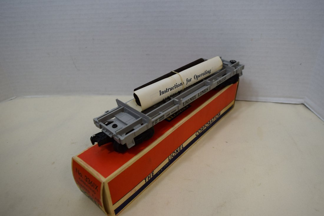 1955 LIONEL OPERATING LUMBER CAR 3361X NIB - 3