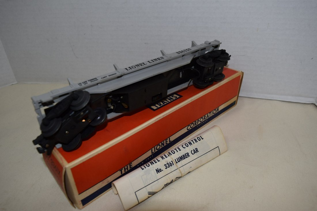 1955 LIONEL OPERATING LUMBER CAR 3361X NIB - 4