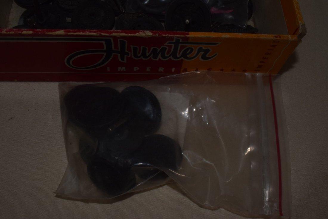 LIONEL OLDER & PREWAR DRIVE WHEELS IN CIGAR BOX - 3