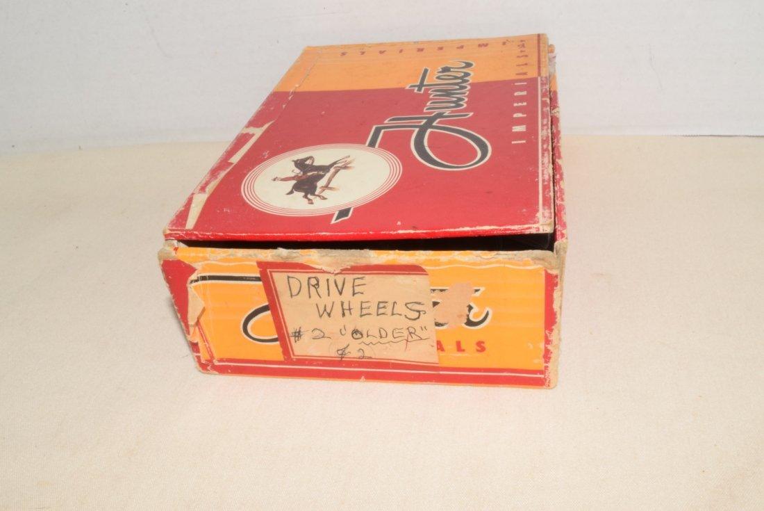 LIONEL OLDER & PREWAR DRIVE WHEELS IN CIGAR BOX - 4