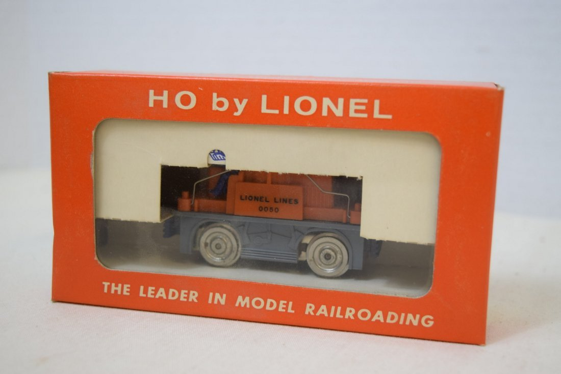 LIONEL HO SCALE TRAIN- 1959 ORANGE/GREY GANG CAR 0