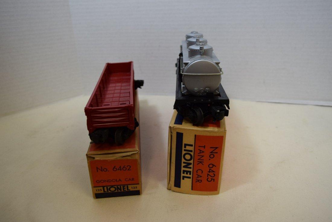 LIONEL GONDOLA CAR & TANK CAR IN ORIGINAL BOXES - 7