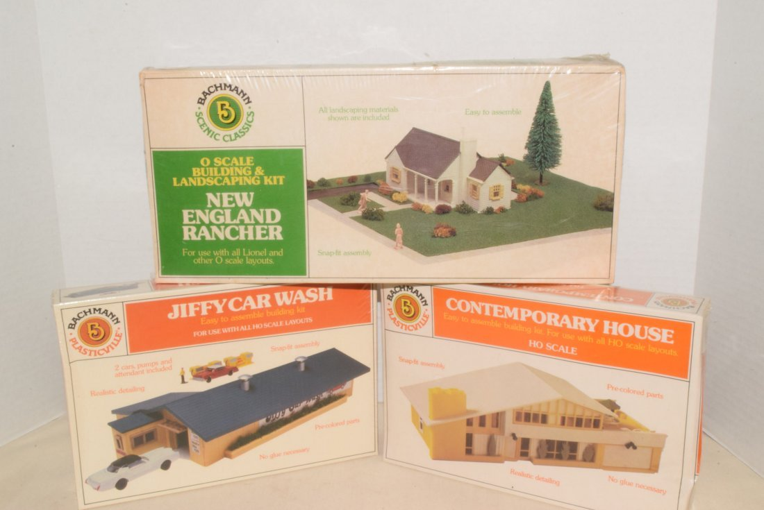 3 BACHMANN MODEL KITS -NIB