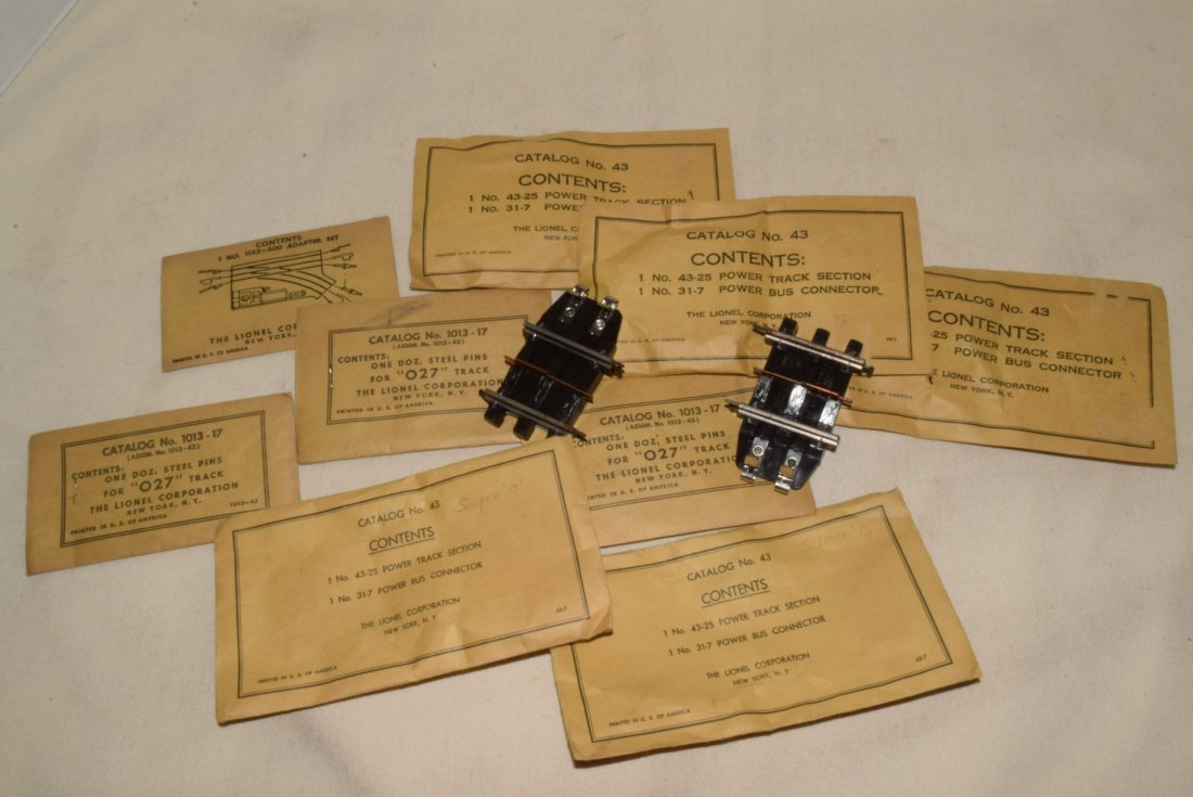 LIONEL PARTS IN ORIGINAL SLEEVES -POWER TRACK SECT