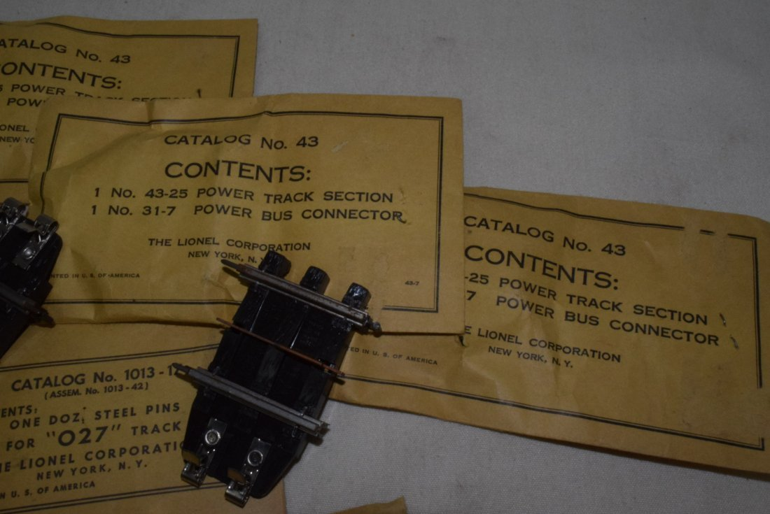 LIONEL PARTS IN ORIGINAL SLEEVES -POWER TRACK SECT - 2