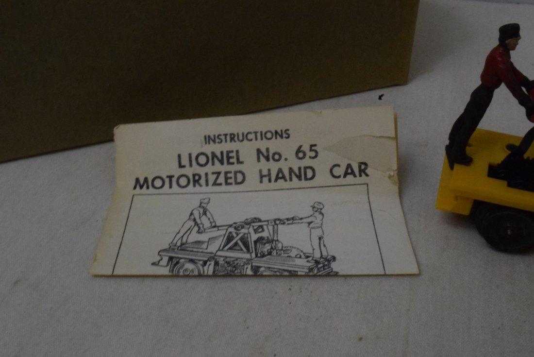 LIONEL MOTORIZED HAND CAR 65 - 3