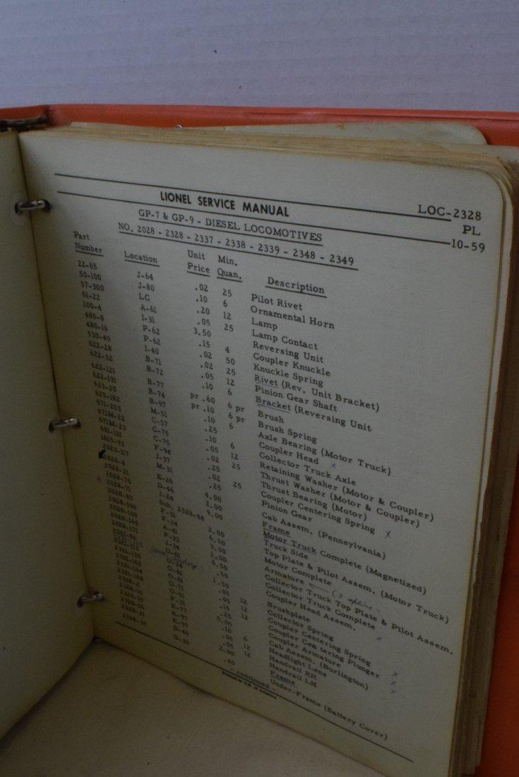 RARE 1948-1960 LIONEL SERVICE ORIGINAL MANUALS - 2