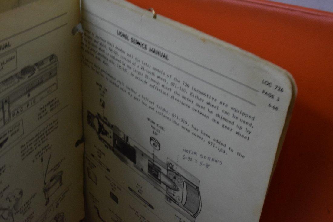 RARE 1948-1960 LIONEL SERVICE ORIGINAL MANUALS - 3