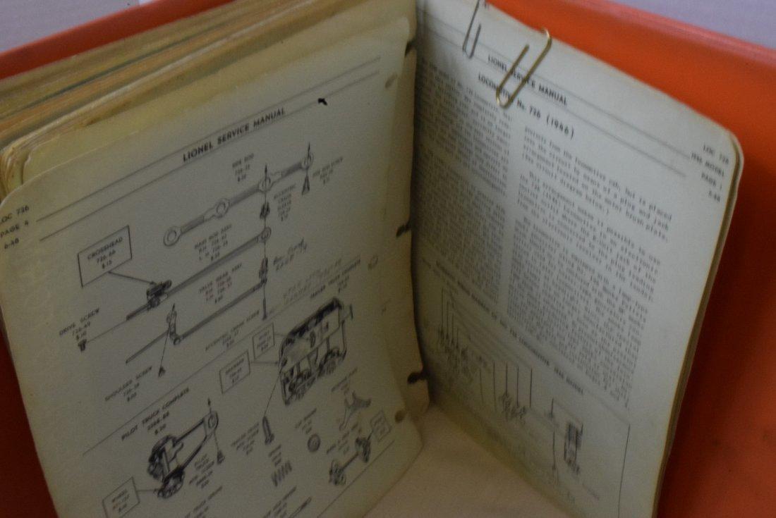 RARE 1948-1960 LIONEL SERVICE ORIGINAL MANUALS - 4