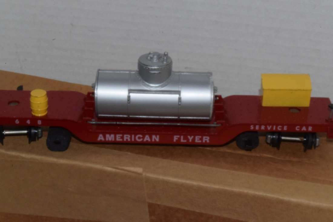 AMERICAN FLYER TRAIN-OPERATING MAIL PICK-UP CAR & - 4