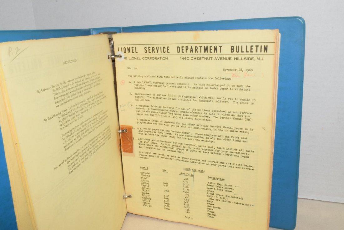 ORIGINAL 1959-1963 LIONEL TRAIN SERVICE BULLETINS - 2