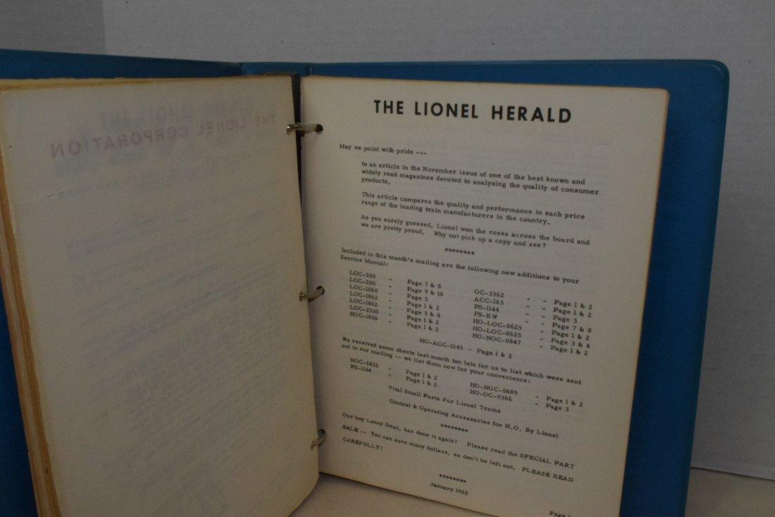 ORIGINAL 1959-1963 LIONEL TRAIN SERVICE BULLETINS - 3