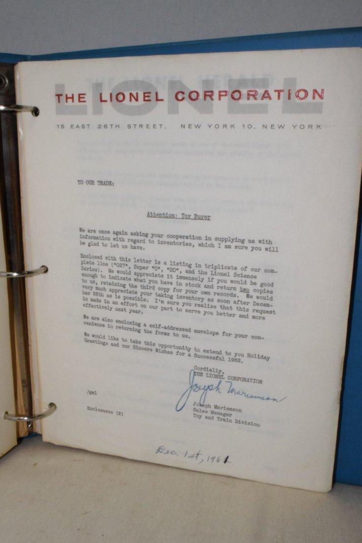 ORIGINAL 1959-1963 LIONEL TRAIN SERVICE BULLETINS - 6