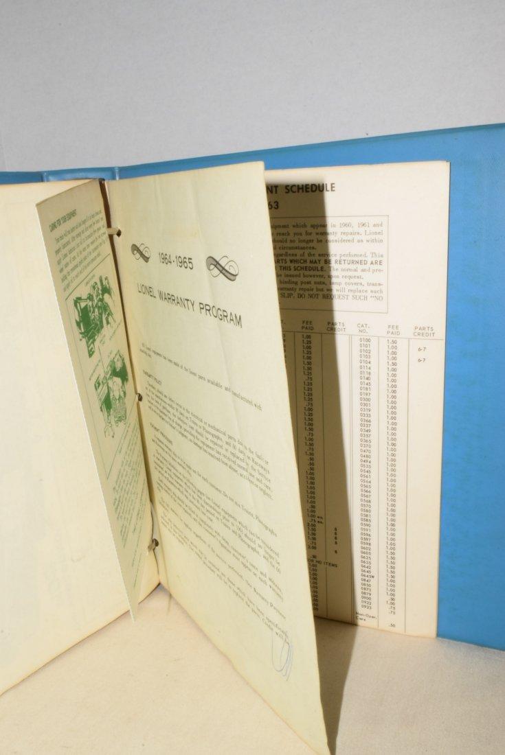 ORIGINAL 1959-1963 LIONEL TRAIN SERVICE BULLETINS - 7