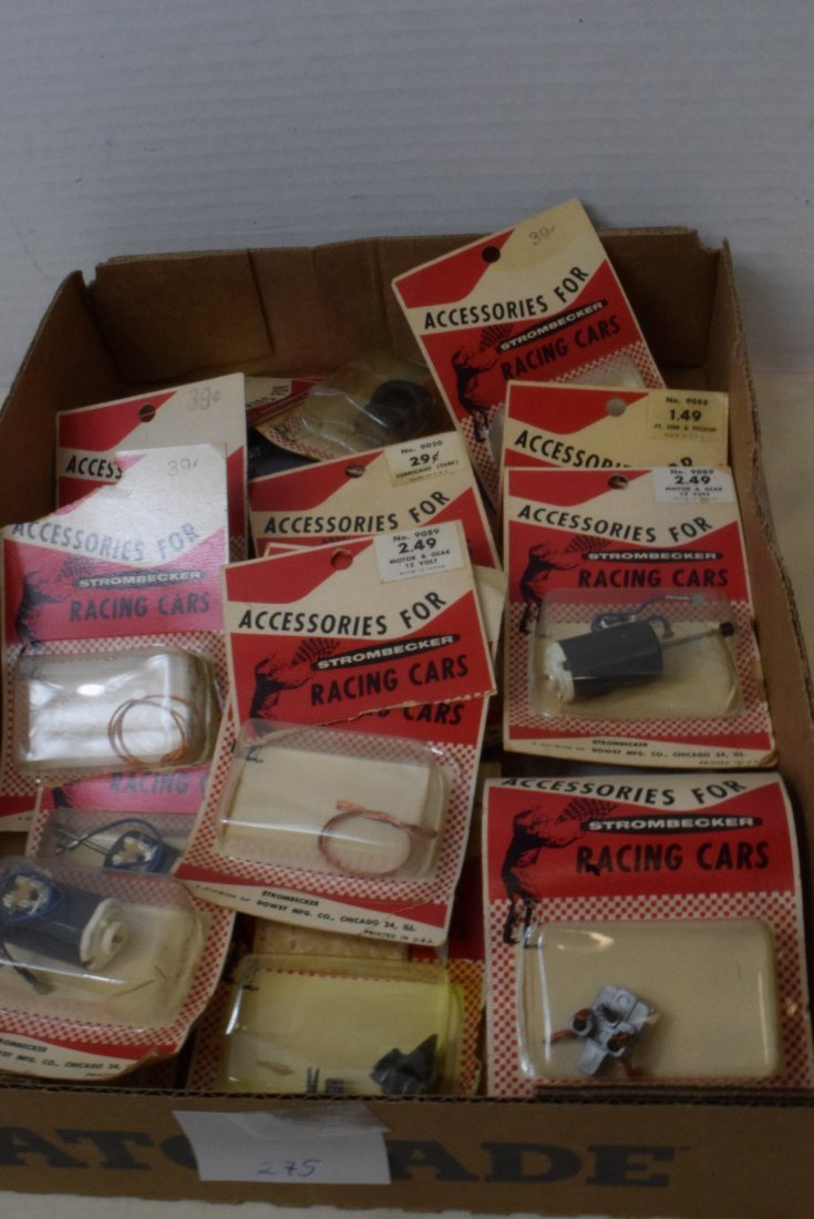 STROMBECKER RACING CAR ACCESSORIES NEW IN PACKAGES