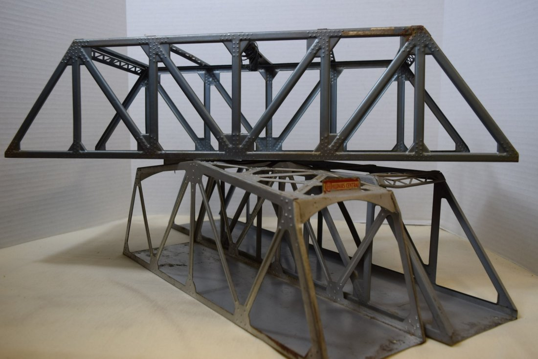 AMERICAN FLYER DOUBLE TRACK TRUSS BRIDGE WITH LIGH