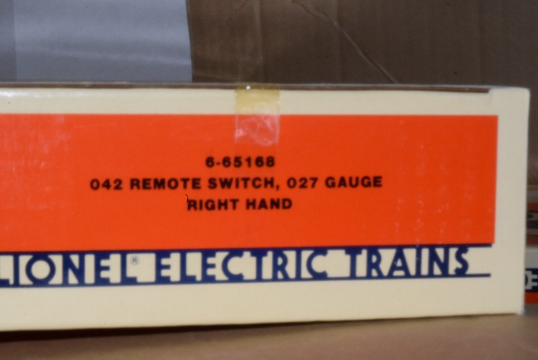 6 LIONEL REMOTE SWITCH 027 GAUGE RIGHT HAND IN ORI - 3