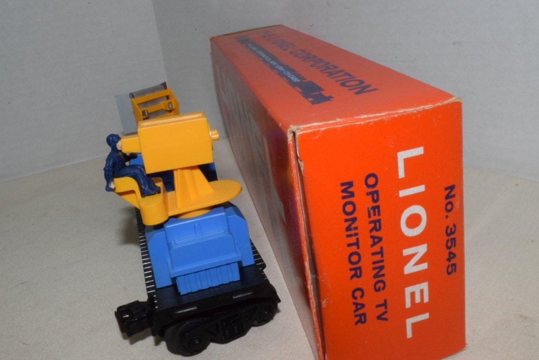 LIONEL TRAIN OPERATING TV MONITOR CAR 3545 IN BOX - 3