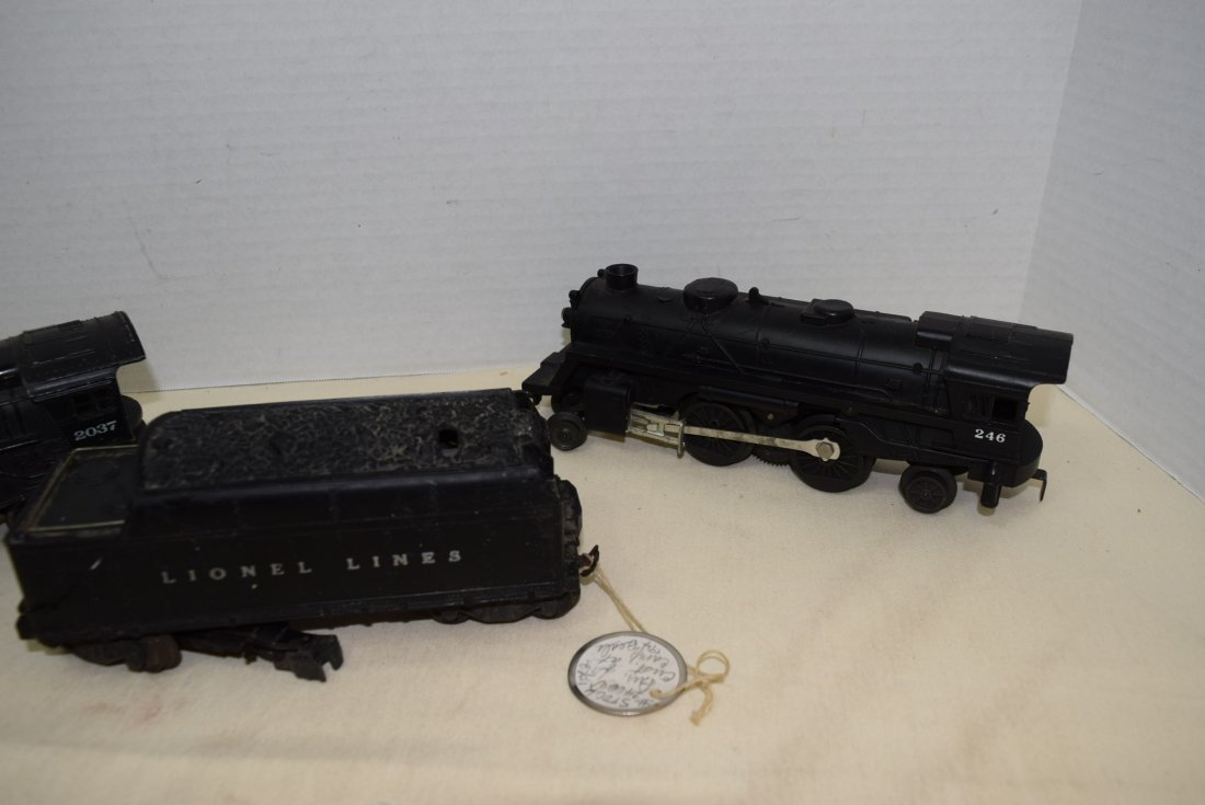 LIONEL LOCOMOTIVES 2037 & 246 - WHISTLING TENDER - 3