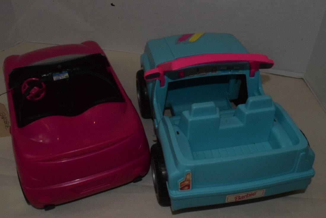 2 BARBIE CARS-SURFER JEEP & ZEBRA CRUISER WITH GPS - 2