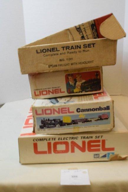 4 PARTIAL LIONEL TRAIN SETS -MANY NIB LIONEL TRAIN