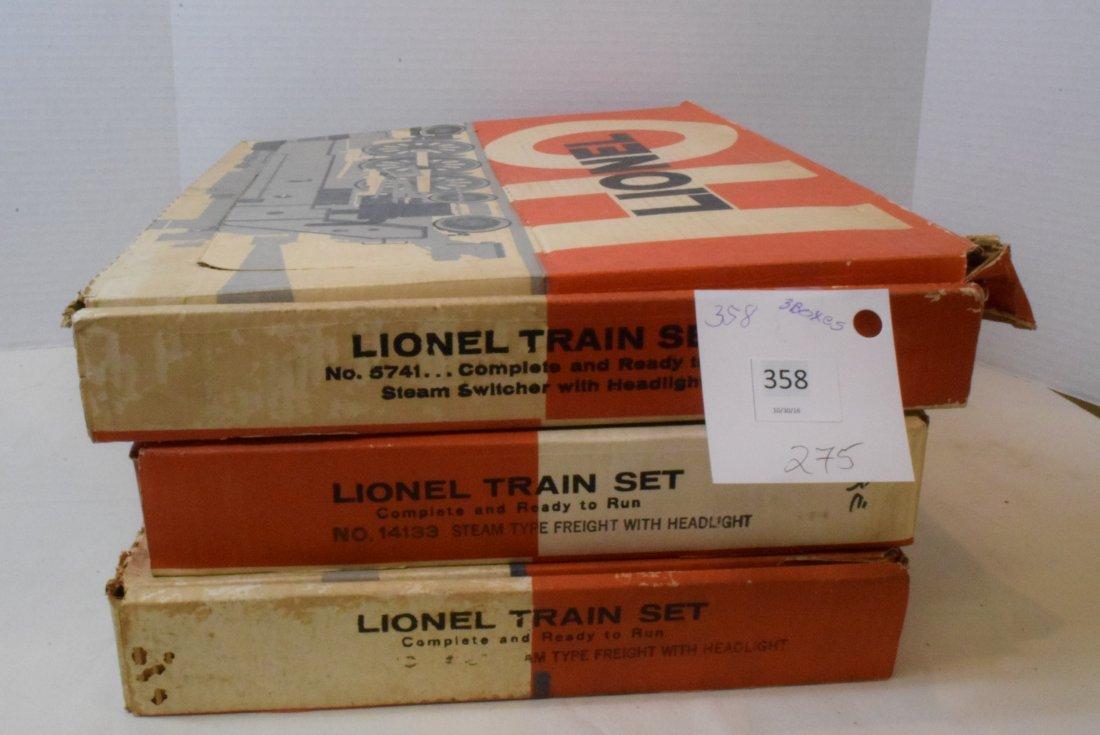 3 PARTIAL LIONEL HO TRAIN SETS