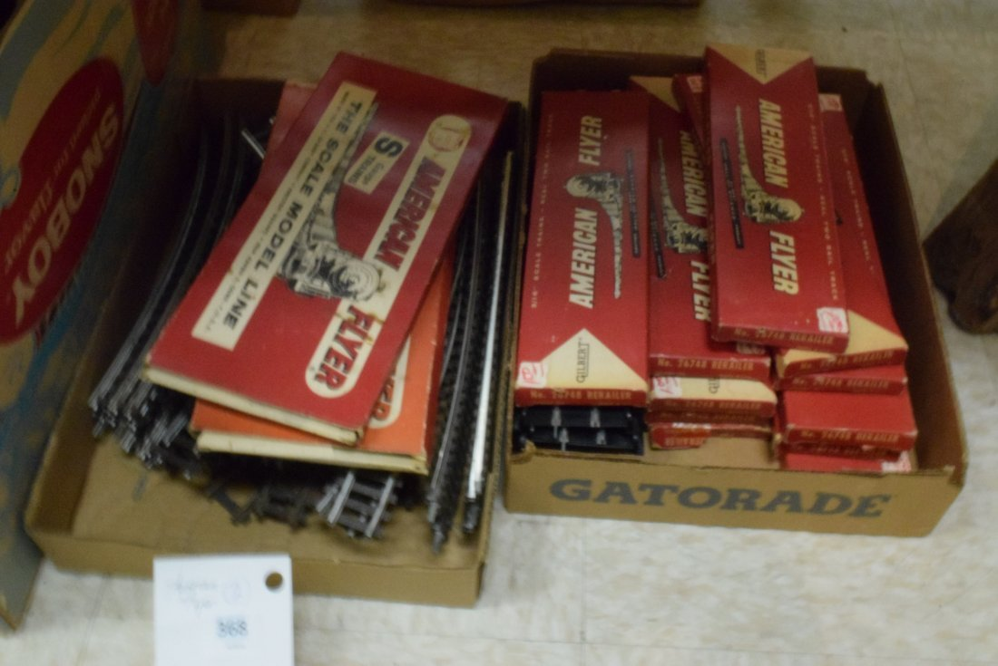 AMERICAN FLYER S-GAUGE TRACK & SWITCHES. 3/16TH RE