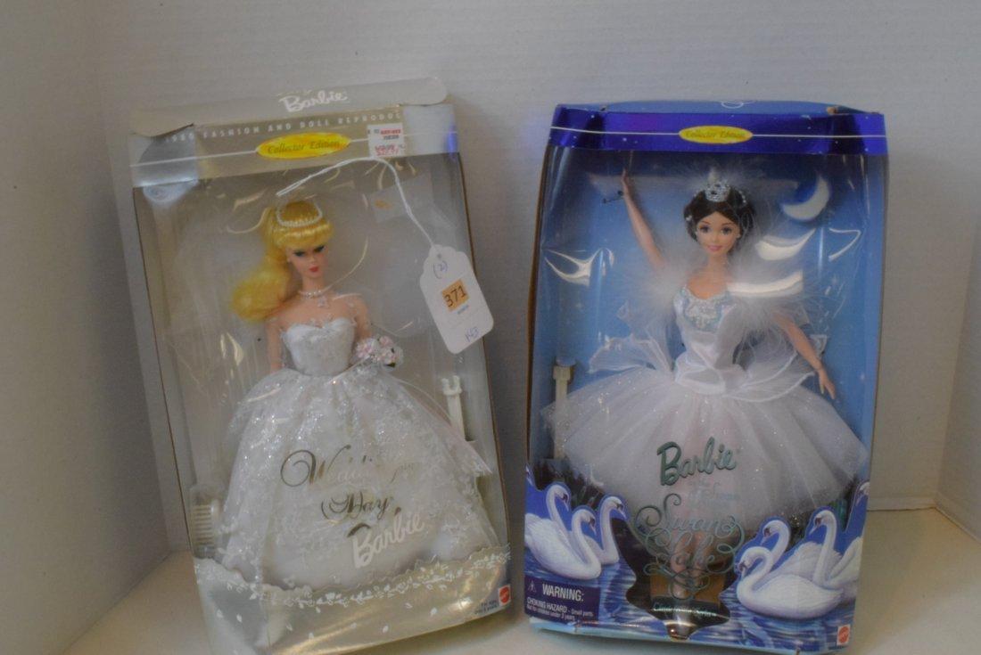 2 MATTEL BARBIES NIB-SWAN QUEEN & WEDDING DAY BARBIE