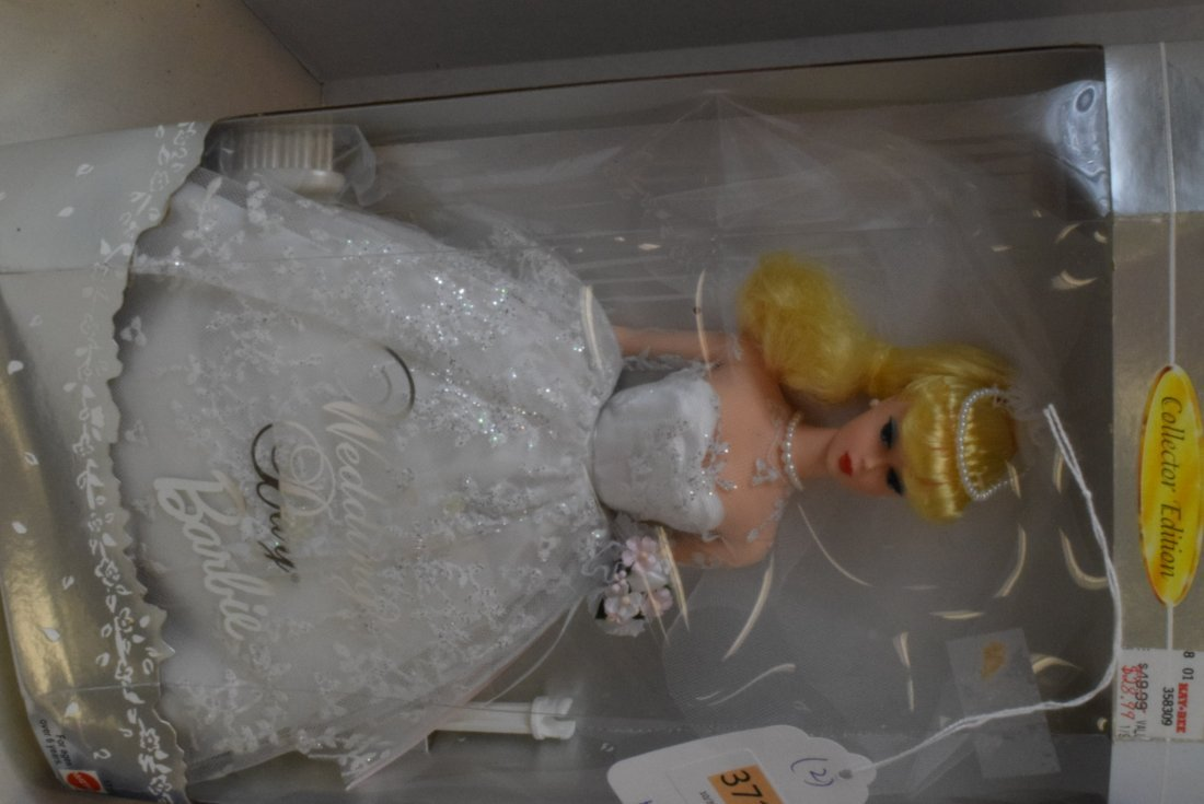 2 MATTEL BARBIES NIB-SWAN QUEEN & WEDDING DAY BARBIE - 2
