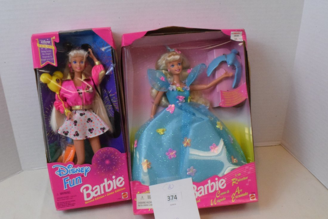 2 BARBIE NIB-DISNEY FUN AND SONGBIRD