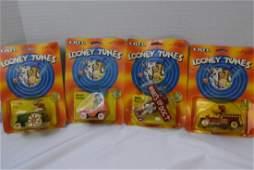 4 LOONEY TUNES DIE-CAST METAL CARS