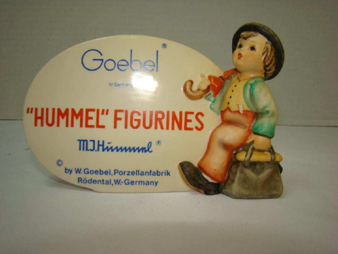 HUMMEL FIGURINES ADVERTISING  STANDING PLAQUE
