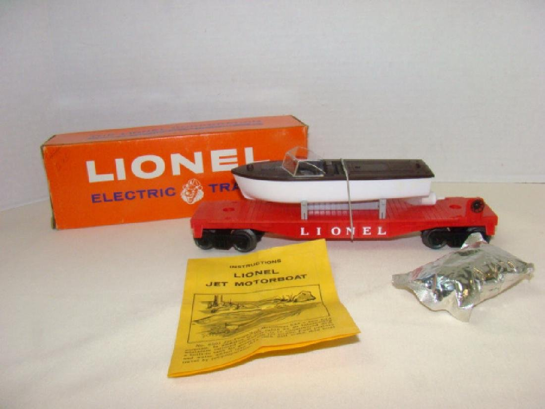 LIONEL JET MOTOR BOAT TRANSPORT CAR-NIB