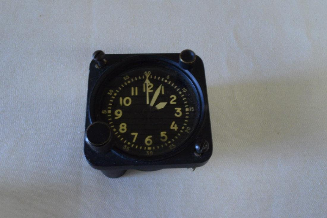 MILITARY AIRCRAFT MECHANICAL CLOCK