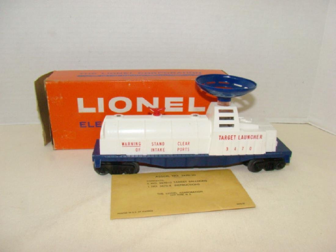 LIONEL TRAINS AERIAL TARGET LAUNCHING CAR WITH BAL