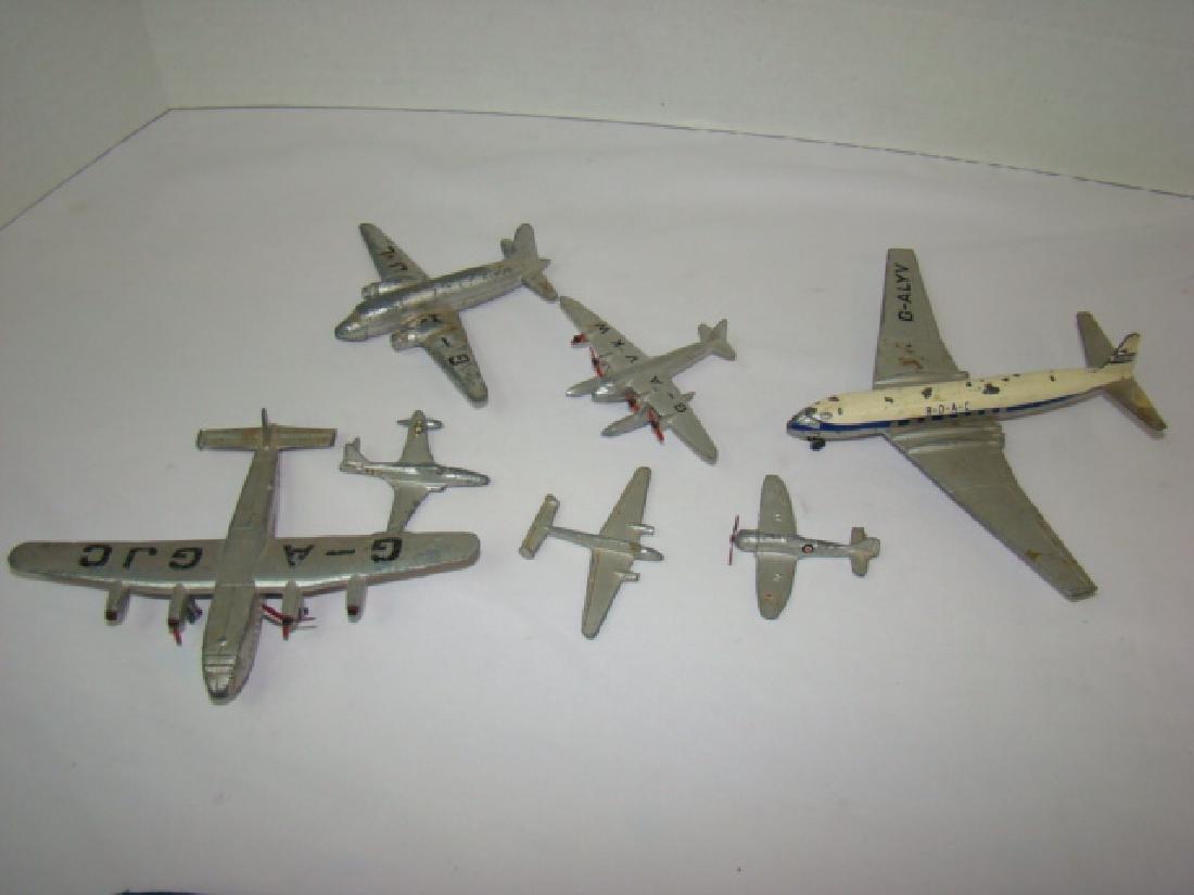 7 VINTAGE DINKY TOY AIRPLANES