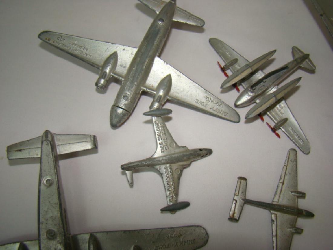 7 VINTAGE DINKY TOY AIRPLANES - 7