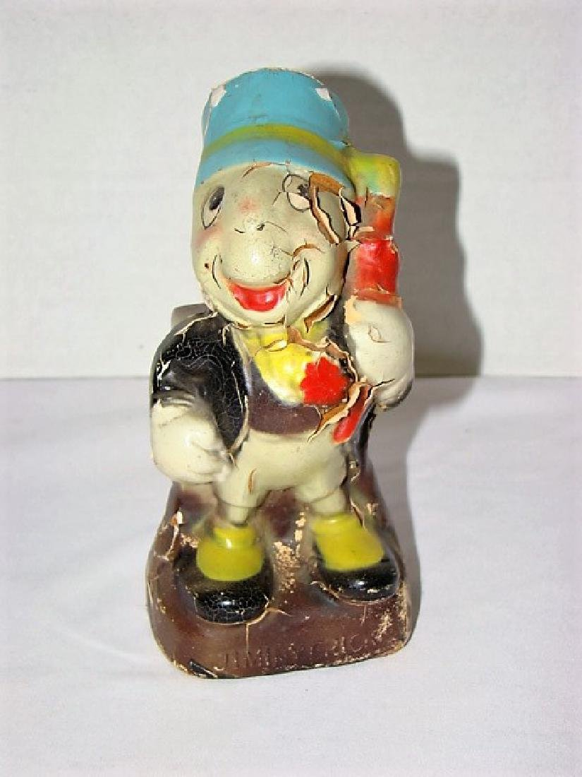 DISNEY 1940'S CROWN TOY CO. JIMINY CRICKET BANK