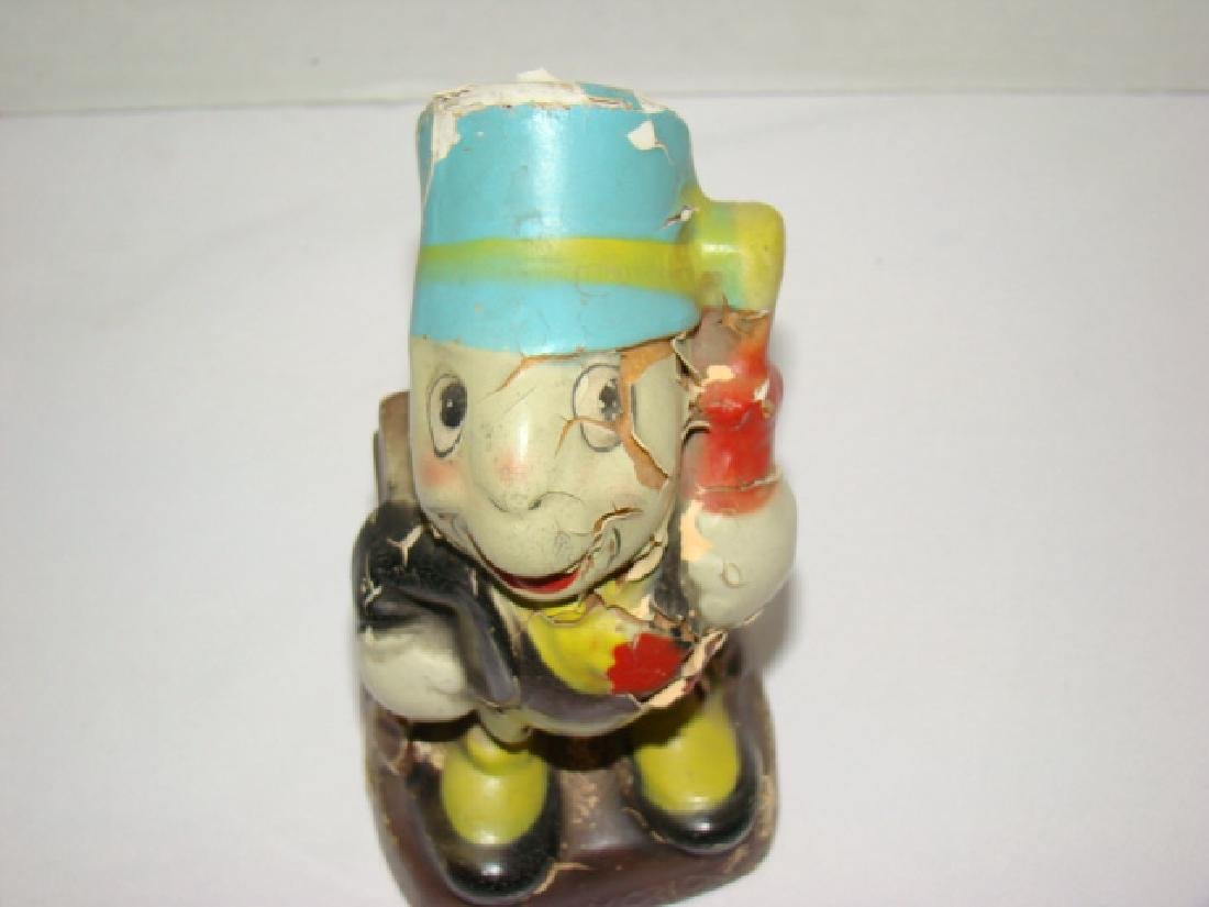 DISNEY 1940'S CROWN TOY CO. JIMINY CRICKET BANK - 2