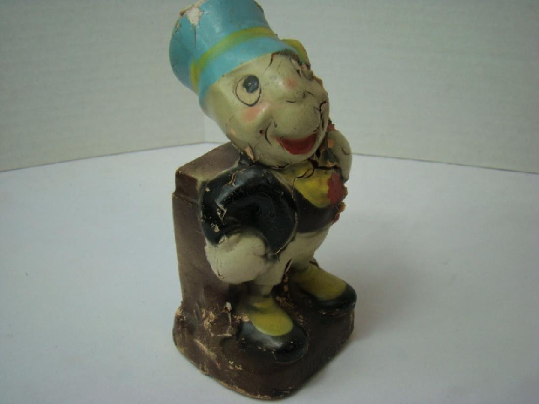 DISNEY 1940'S CROWN TOY CO. JIMINY CRICKET BANK - 8