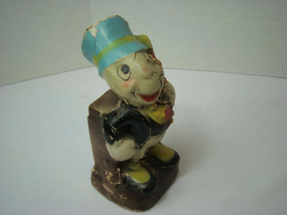 DISNEY 1940'S CROWN TOY CO. JIMINY CRICKET BANK - 9