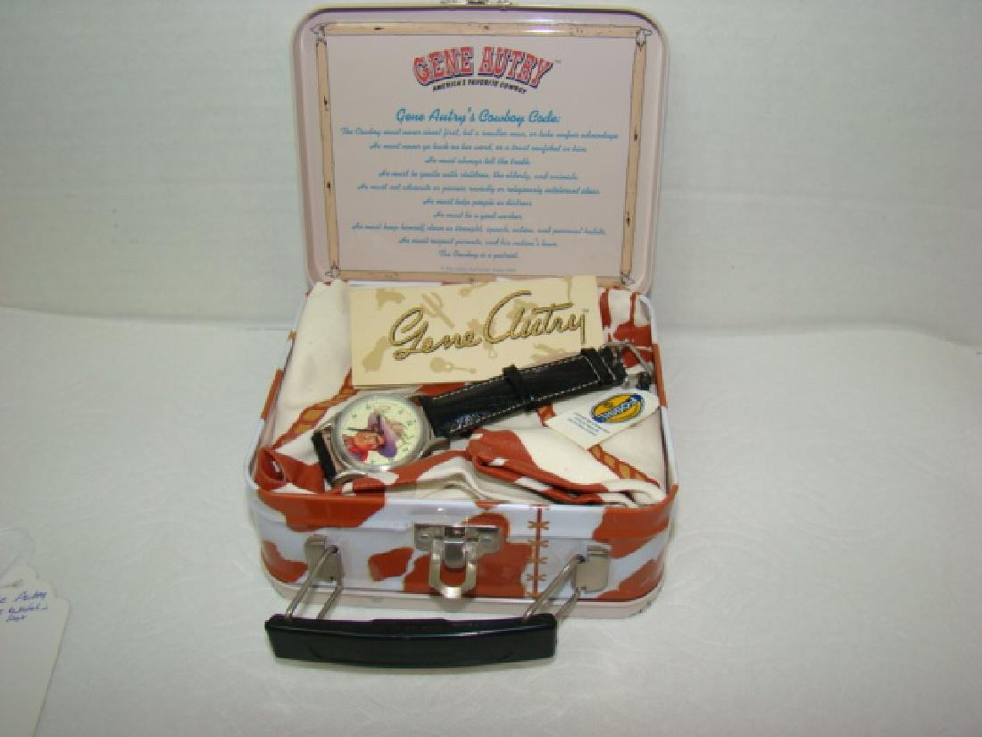 NEW GENE AUTRY COLLECTOR WATCH IN ORIGINAL LUNCHBO