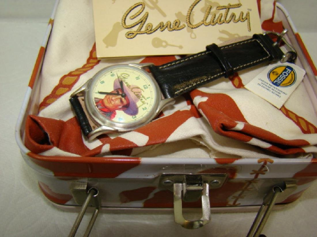 NEW GENE AUTRY COLLECTOR WATCH IN ORIGINAL LUNCHBO - 3