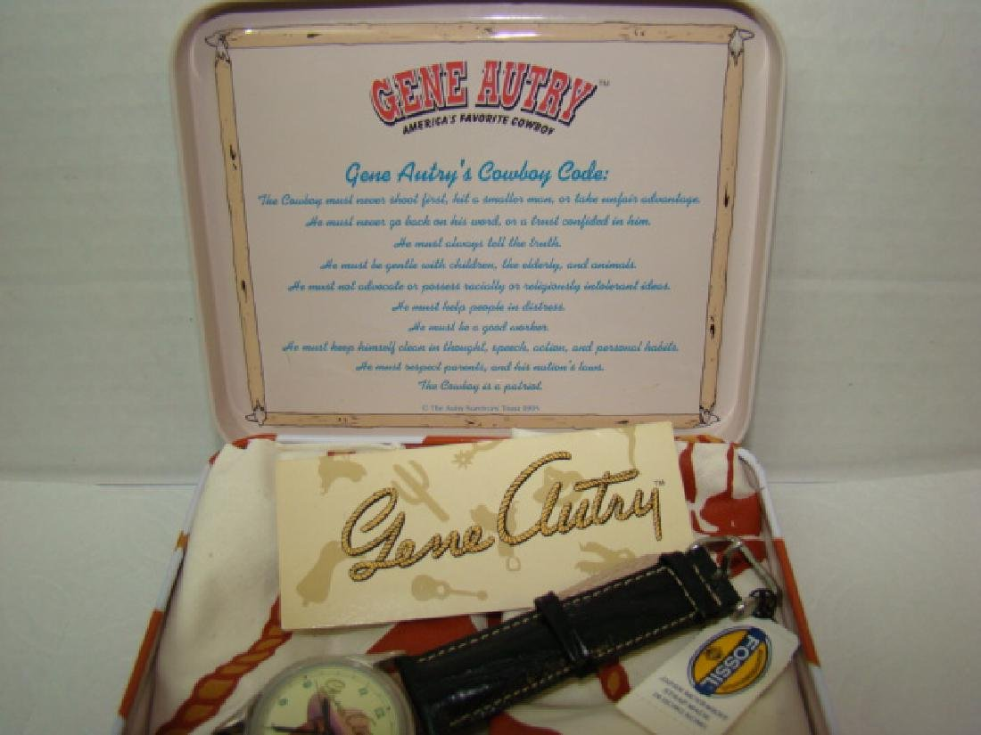 NEW GENE AUTRY COLLECTOR WATCH IN ORIGINAL LUNCHBO - 4