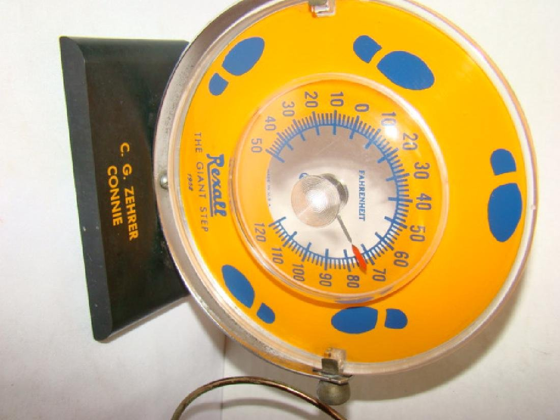 1958 REXALL THERMOMETER  & COOPER WALL THERMOMETER - 2