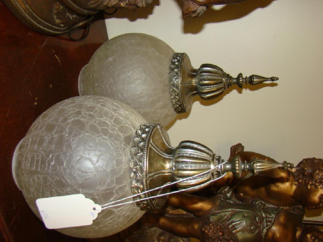 CHERUB FIGURAL LAMPS - 4