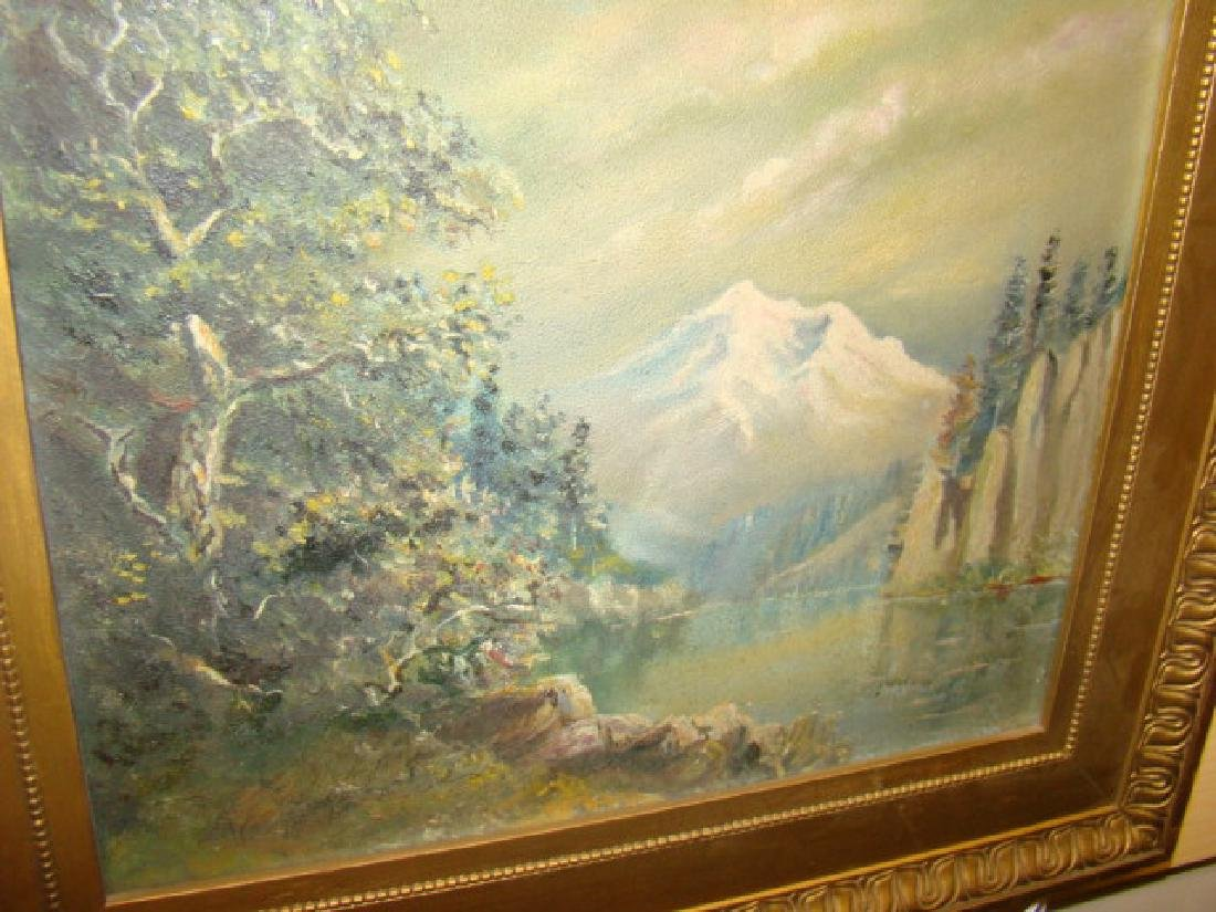 MOUNTAIN & RIVER OIL PAINTING - 2