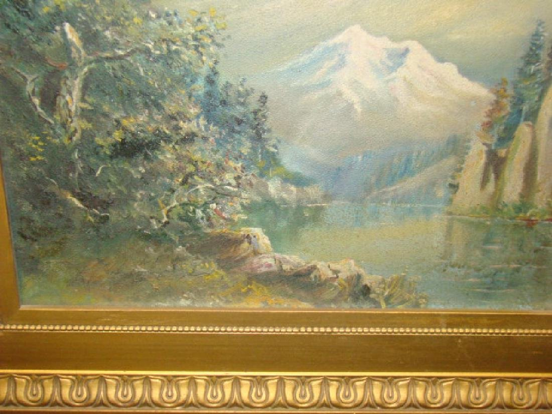 MOUNTAIN & RIVER OIL PAINTING - 3