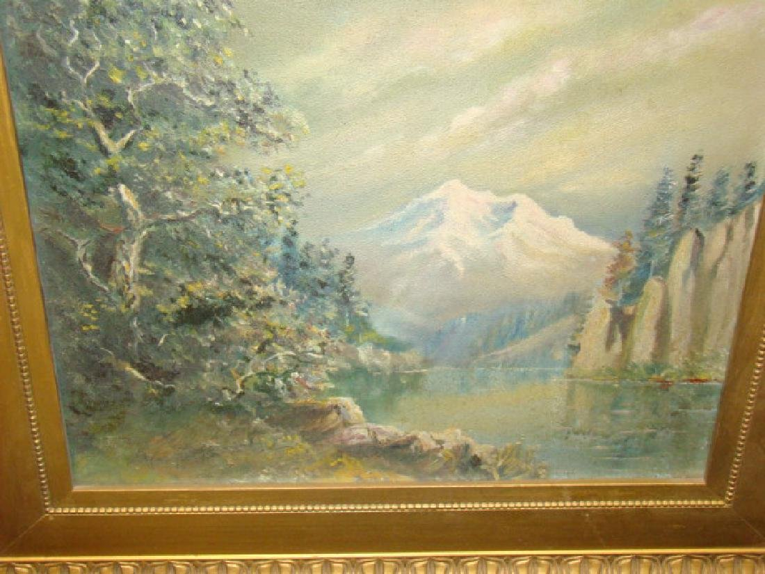 MOUNTAIN & RIVER OIL PAINTING - 4